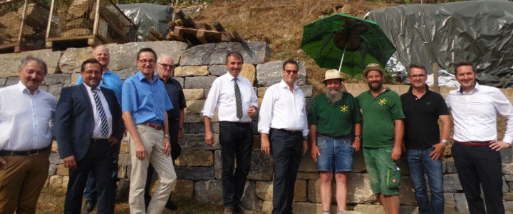 29.08.18 Minister Peter Hauk, MdL, besucht unser Ökokontoprojekt in Illingen/Roßwag